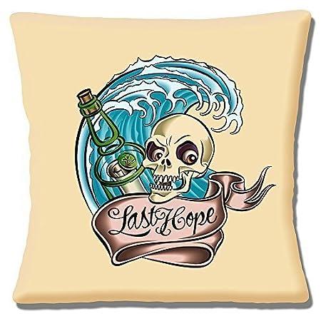 sailor jerry tattoo artist last hope skull bottle wave on cream
