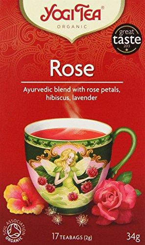 Yogi Tea - Ayurvedic Organic Tao Tea Rose 17 Bags (Pack of 6)
