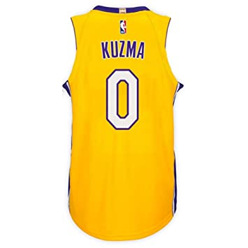 separation shoes aee0f 4c81a Kuzma Men's Yellow Lakers Swingman Jersey Shirt 17/18 ...