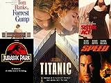 Forrest Gump, Titanic, Sister Act, Jurassic Park, Speed - VHS 5 Pack