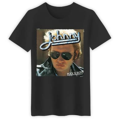e9918d43a80 Keewi T-Shirt Johnny Hallyday Rock n Slow T-Shirts Unisexe Fit Coloris
