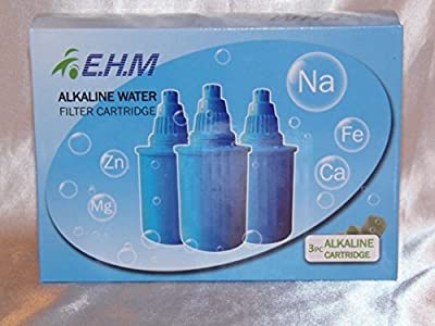 Replacement Anti-Oxidant Alkaline Ionizer Water Pitcher Jug filter Blue 3 Pack
