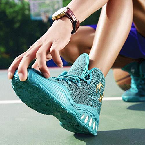 Uomo Scarpe Scarponcini da Sports Knit basket Sneakers blu Coach Running HTdAqTw