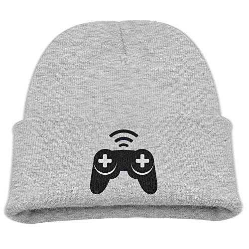 Engchengx Game Controllers Children's Knit Cap Ash