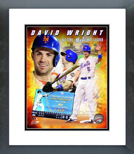 (David Wright NY Mets All Time Hits Leader Composite Framed Picture 8x10)