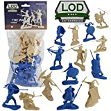LOD Trojan War GREEKS vs. TROJANS Soldiers: 16 BLUE & TAN 1:30 Plastic Figures