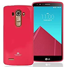 LG G4 Case, [Ultra Slim Fit] Goospery® Color Pearl Jelly Case *Slight Pearl Glittery Sheen* [Anti-Yellowing & Anti-Discoloring Finish] Premium TPU [Shock Absorption] Cover for LG G4 - Hot Pink