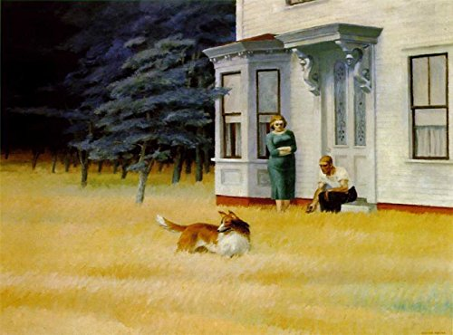 Gifts Delight Laminated 25x18 Poster: Edward Hopper - PaintingDb Hopper, Edward Cape Cod Evening