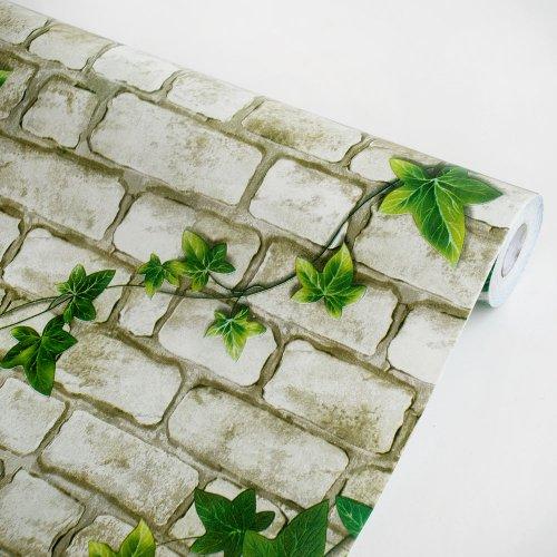 Ivy Wall Gray - Vinyl Self-Adhesive Wallpaper Prepasted Wall stickers Wall Decor ()