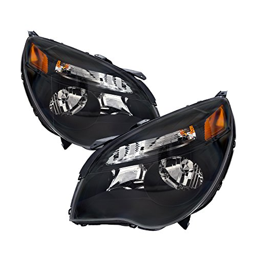 PERDE Replacement for Chevy Equinox LT/LS Chrome Headlamps Headlights WithPerformance Lens Set Pair