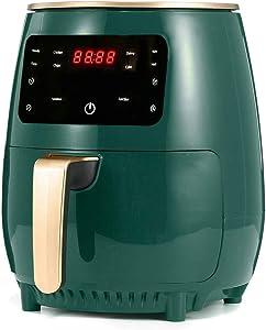 KLYHCHN Air Fryer Large Oilless Cooker with Detachable Dishwasher Safe Basket Air Frying, 1200W 4.5L Air Fryer Oil Free Health Fryer Cooker French Fries Pizza Fryer 110V/220V (Green)