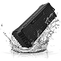 Rayhome 20w Wireless Bluetooth Speakers Waterproof Water Resistant Super Loud Perfect Bass Subwoofers Stereo Support TF Card 3.5mm Audio with Mic for Travel,Hiking,Riding,Running,Golf,Beach,Shower