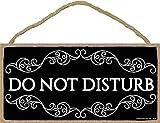 Do Not Disturb Sign- 5 x 10 inch Hanging Decor, Decorative Wood Sign Home Decor