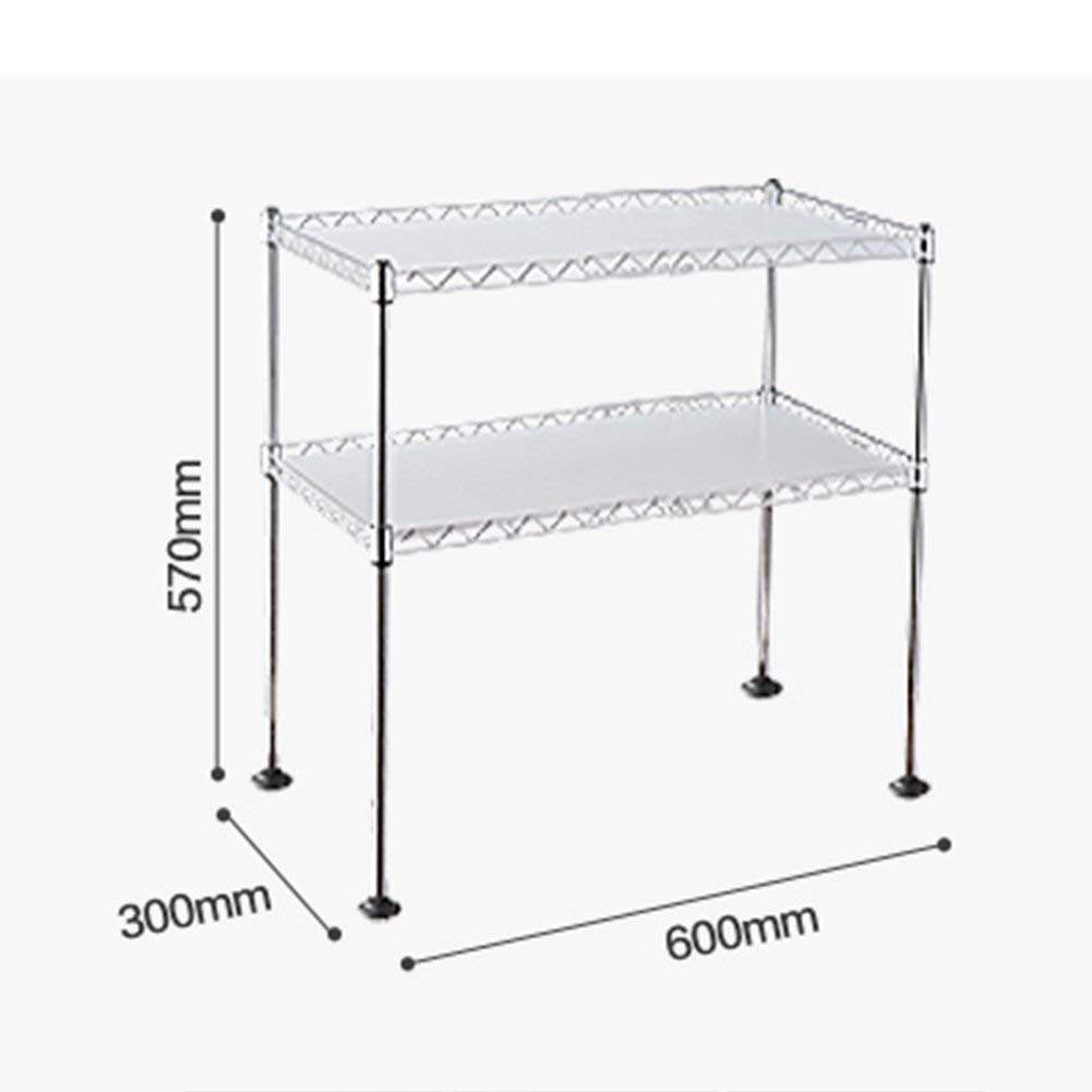 Chuan Han Kitchen Microwave Rack Oven Shelf Seasoning Organizer Stainless Steel Multifunction Home Accessories Save Space Storage 2 Layer 2 Size, b by Chuan Han (Image #2)