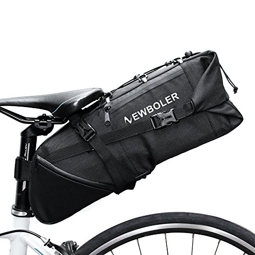 NEWBOLER Bicycle Saddle Bag Bike Seat Bag Under Seat Packs Tail Pouch Cycling Road Backpack10L