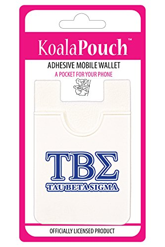 - Tau Beta Sigma - Koala Pouch - Adhesive cell phone wallet