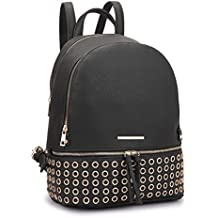 Dasein Women's Leather Backpack Casual Purse School Shoulder Bag Handbag Dayback