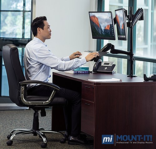 Mount It Sit Stand Desk Mount Workstation Workpro Chair