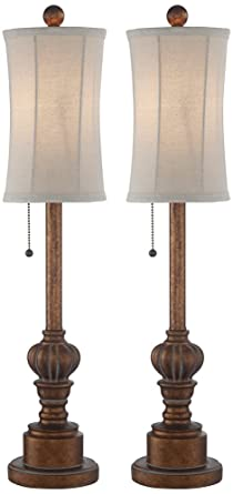 Merveilleux Bertie 28u0026quot; High Tall Buffet Table Lamps Set