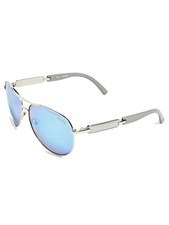 c7c3dd1786 Amazon.com  GUESS Factory Women s Mirrored Tinted Aviator Sunglasses ...