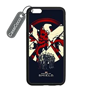 CASECOCO(TM) iPhone 6 Plus Case, Favorate TV Series Agents of Shield Case for iPhone 6 Plus (5.5-inch) - Protective Hard Back / Black Rubber Sides hjbrhga1544