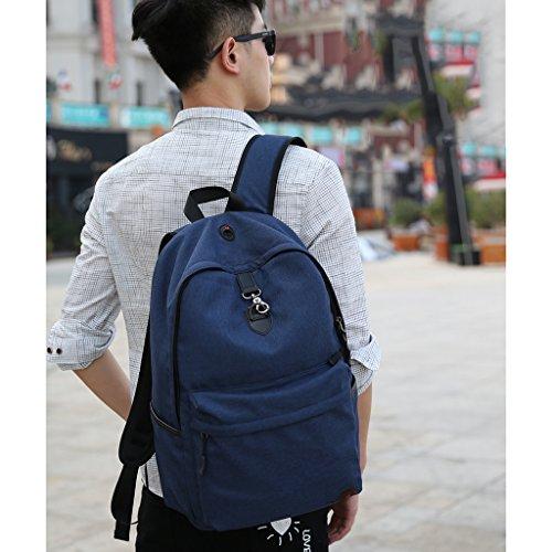 GUO - borsa a tracolla uomo a tracolla per il tempo libero zaino computer borse studente universitario studenti delle scuole superiori tendenza moda (30 * 46cm) (blu)