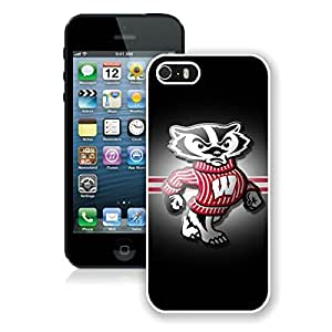 Ncaa Big Ten Conference Football Wisconsin Badgers(2) White iPhone 5s Phone Case Genuine Custom Cover