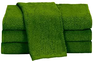 """Towels by Doctor Joe Apple Green 15"""" x 25"""" China Soaker, Pack of 12"""