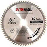 Saxton Lame de scie circulaire TCT - 210 x 30 mm x 60 dents pour Bosch, Makita, etc.