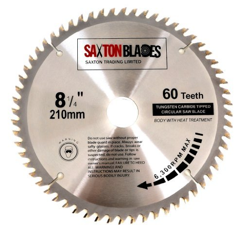 Saxton tct circular wood saw blade 210mm x 30mm x 60t for festool saxton tct circular wood saw blade 210mm x 30mm x 60t for festool bosch makita dewalt fits 216mm saws amazon diy tools keyboard keysfo Choice Image