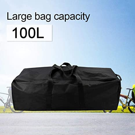 Destinely Bolsa Grande de Viaje/Deporte (Tela de PVC Oxford), 100L Bolsa de Viaje Plegable Bolsas Grande Duffel Bag para Avión Cabina Impermeable - ...