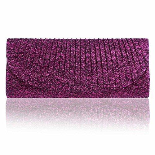 Glitter Sparking Long Clutch Evening Women's Purple Damara Bag 4pwqSznp