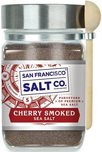 Cherrywood Smoked Sea Salt - 8 oz. Chef's Jar by San Francisco Salt Company by San Francisco Salt Company