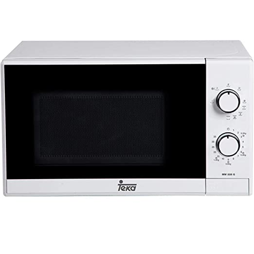 Teka MW225G - Microondas con grill, 700W/1000W, 20 litros, color blanco y negro