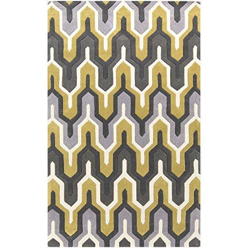 3' Pewter Area Rug - Surya COS-9177 Cosmopolitan Contemporary Area Rug, 2-Feet by 3-Feet, White