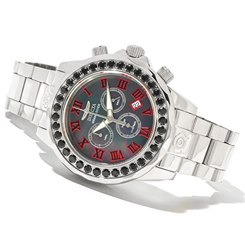 Invicta Mens Pro Grand Diver Swiss Chronograph Limited Edition Black Spinel Bezel SS Watch (Invicta Grand Diver Chronograph)
