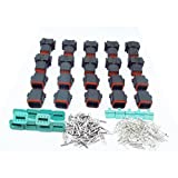 CNKF 10 Sets Deutsch DT 8 Pin black male and female auto Waterproof Electrical Wire Connector Plug DT06-8S DT04-8P
