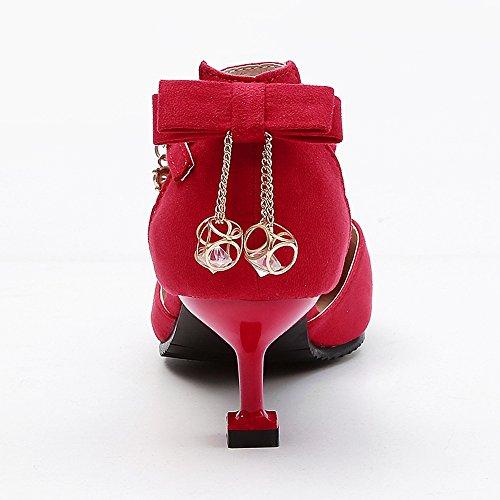 Mode de Sandales Red Talon Femmes JOJONUNU Chaton HXfzWxp