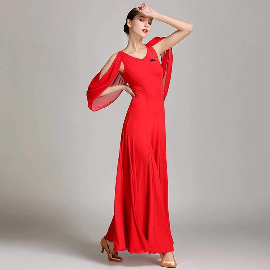 Female Red Large Dress YTS Floating Modern Dance Skirt