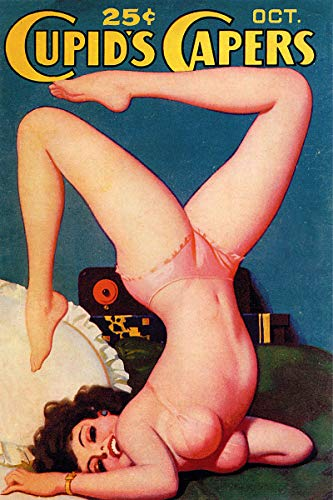 Cupids Capers Vintage Classic Pinup Girl Retro Cover Art Poster - 24x36