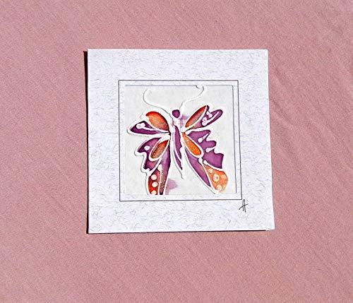 Purple Butterfly card,Paintings on Silk-Batik,Personalised Butterfly Card,Butterfly Mother's Day Card,Spring Butterfly Card,Butterfly Gift,Card Garden.