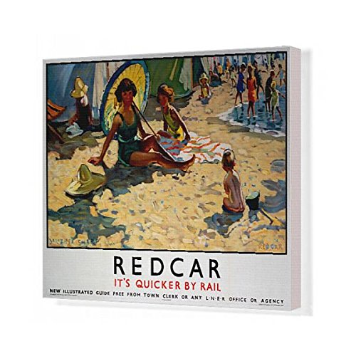 20x16 Canvas Print of Redcar, LNER poster, 1934-1935 (Museum Of London Costumes Collection)