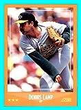 1988 Score #616 Dennis Lamp OAKLAND A's ATHLETICS (Box109c)