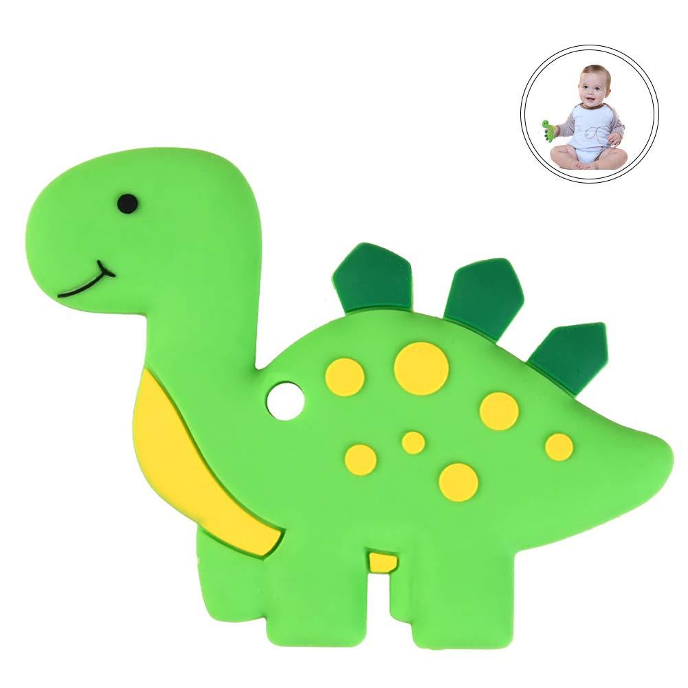 Hilai Dinosaurio bebé Mordedor de Silicona Libre de BPA para el Juguete de la dentición del niño recién Nacido (Azul): Amazon.es: Juguetes y juegos