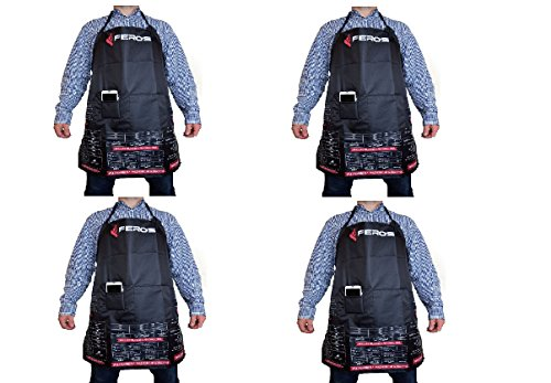 Double Sink Chest (FEROS Cheat Sheet BBQ Apron - (4 pk) - grill times and temperatures printed upside down! Waterproof black apron with white lining - 3 set pockets on front for convenient grilling, cooking, etc.)