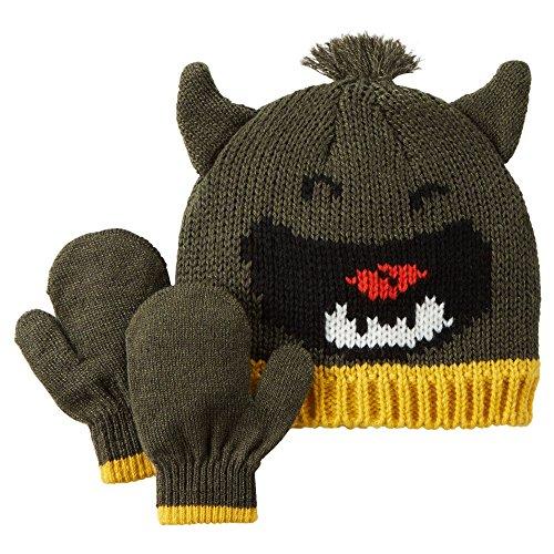 Little Monster Knit Hat - Carter's Little Boys' Knit Hat & Glove Set (2T/4T, Green Monster)