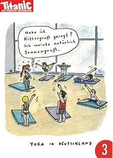 Postkarte A6 Lustig Von Modern Times Rooftop Yoga Bizarr