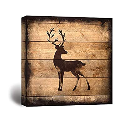Rustic Young Buck Silhouette - Canvas Art