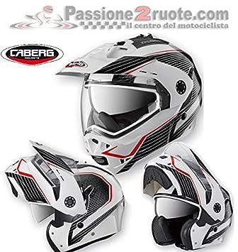 3ed368de Image Unavailable. Image not available for. Colour: Caberg Tourmax Sonic  Enduro White Modular Helmet ...