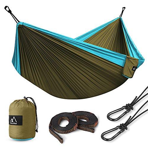 Terra Hiker Double Camping Hammock, Lightweight Hammock, with Hammock...